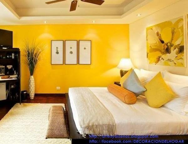 Recamara amarilla colores de casas interiores pinterest for Colores de casas interiores