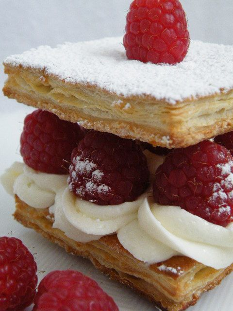 Raspberry Napoleons | Yummy | Pinterest