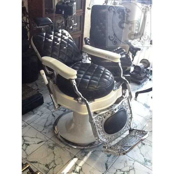 Barber Dentist : Koken Antique Barber Chair - Estrada Dental Supply Co.