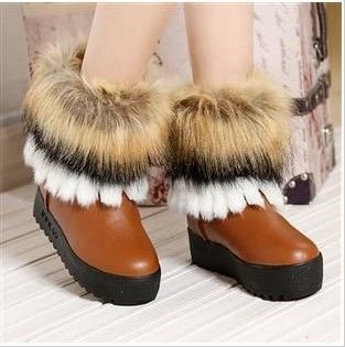 snow boots round toe flat boots short boots free shipping from