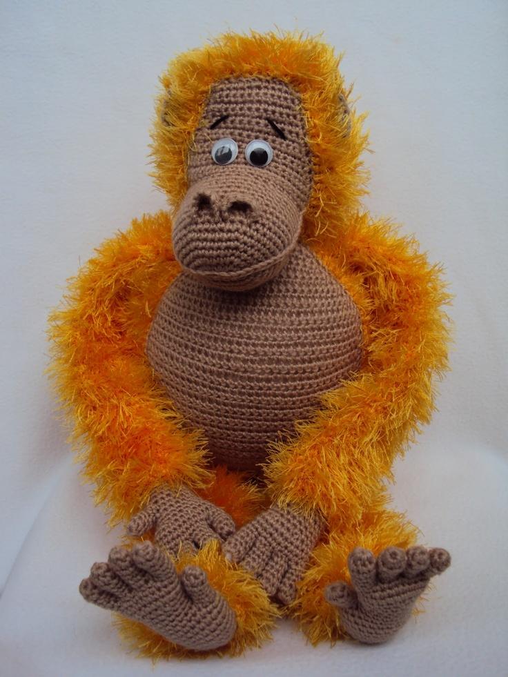 Amigurumi Orangutan Knitting and crochet Pinterest