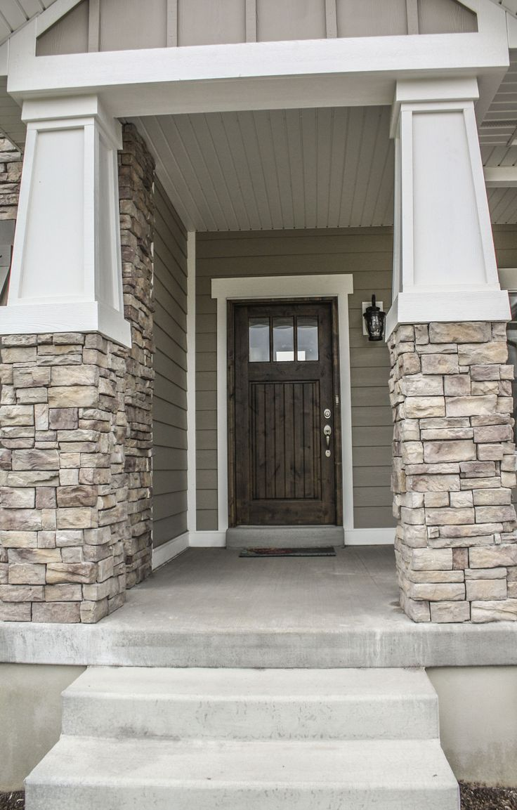 Craftsman style column detail craftsman home pinterest for Craftsman style columns