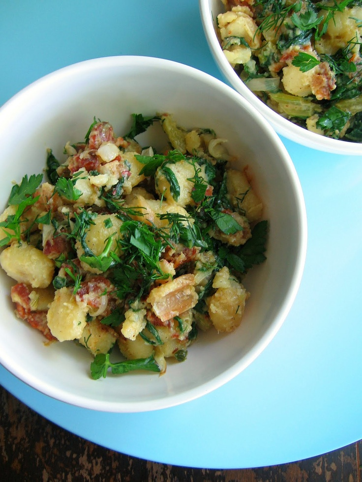 Pan Fried Gnocchi With Bacon and Cambozola | Sweet Sugar Bean