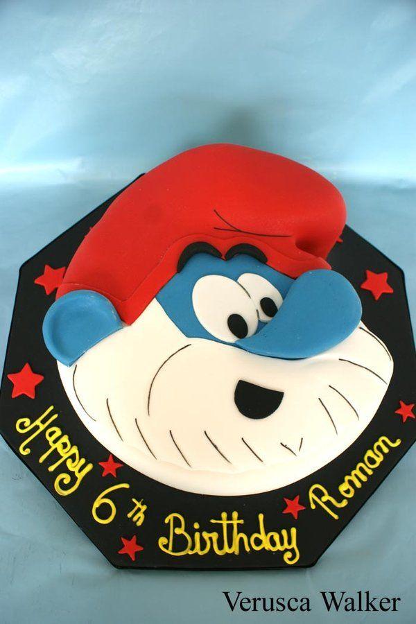 Images Of Papa Birthday Cake : Papa smurf cake Boys Birthday Cakes Pinterest