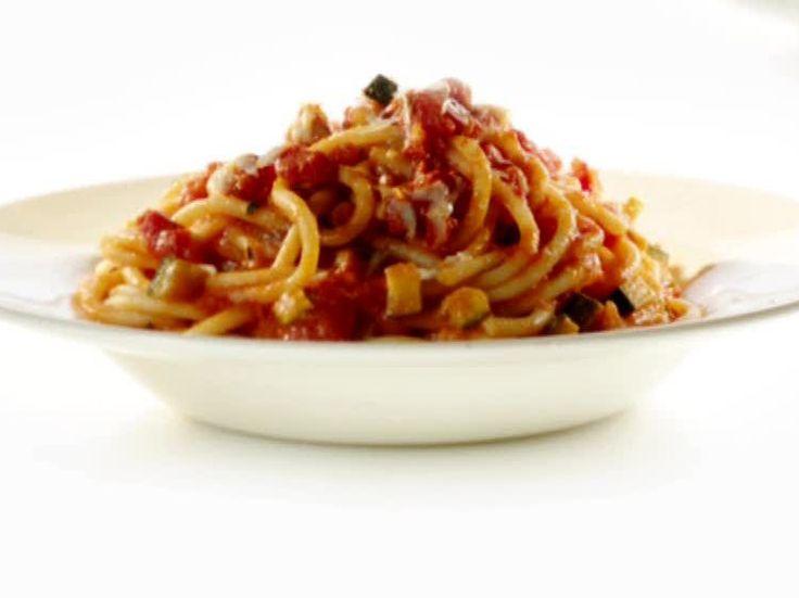 Zucchini Tomato Sauce with Fat Spaghetti Recipe : Rachael Ray : Food ...