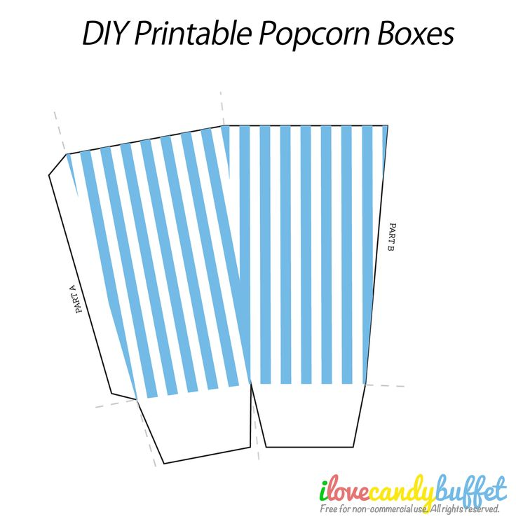 Popcorn template printable the image for Popcorn container template