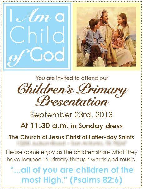 2013 Primary Program Invitations