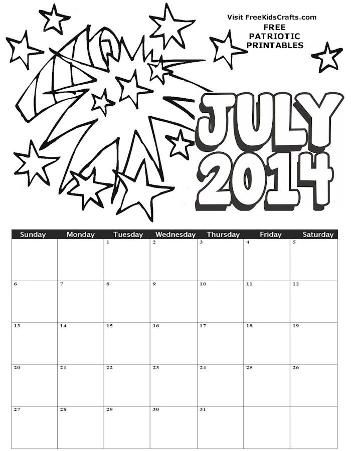 Kids Calendar Pages : Childrens printable calendars by month page search