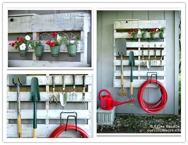 Diy garden tool rack there 39 s no place like home pinterest for Diy garden tool storage