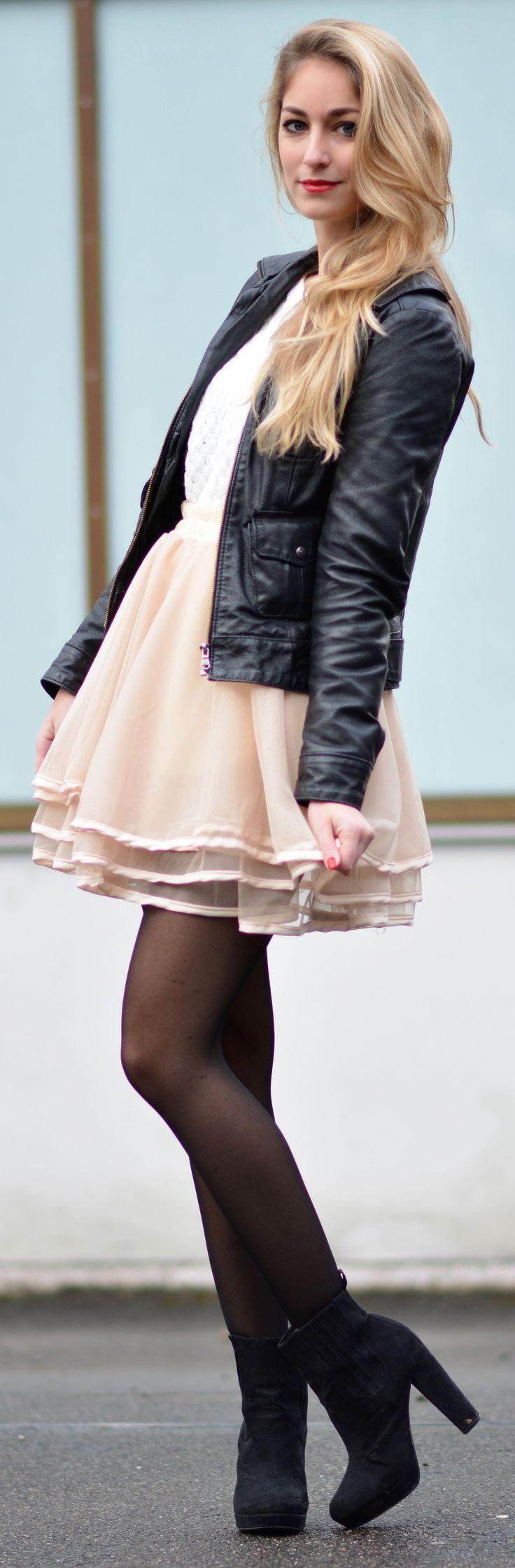 Sheinside Apricot Cascading Ruffle Lace Skirt