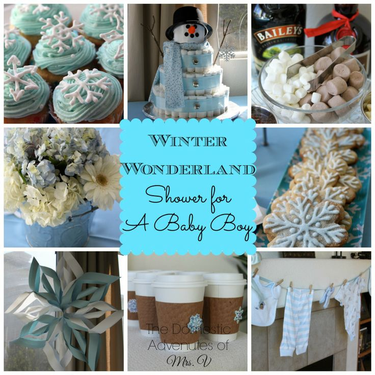 Winter Themed Baby Shower Cakes images