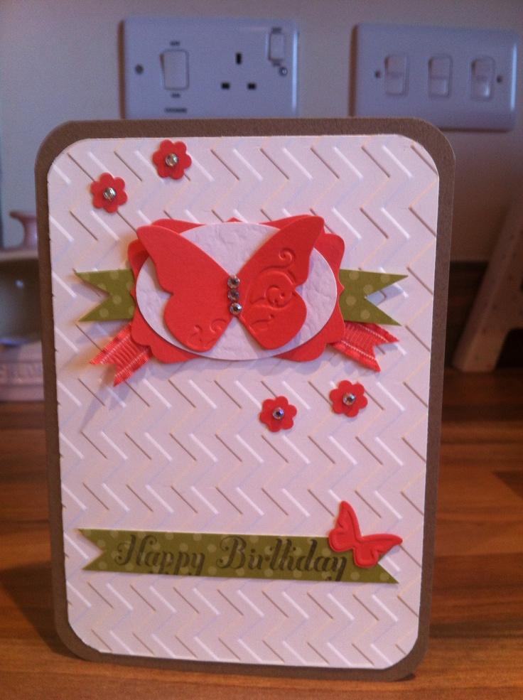Stampin up birthday card stamping pinterest