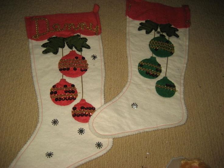 Christmas stockings vintage jeweled craft ideas pinterest for Vintage christmas craft supplies