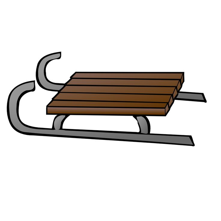 Wooden Sled free clip art image. | Holiday Clip Art | Pinterest