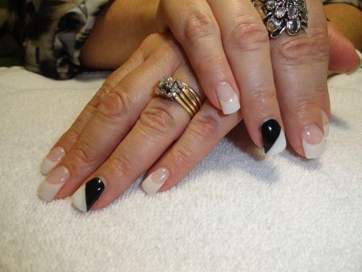 Black N White Gel Nails | Cheryl Lareau - Gel Nails Esthetician | Pin
