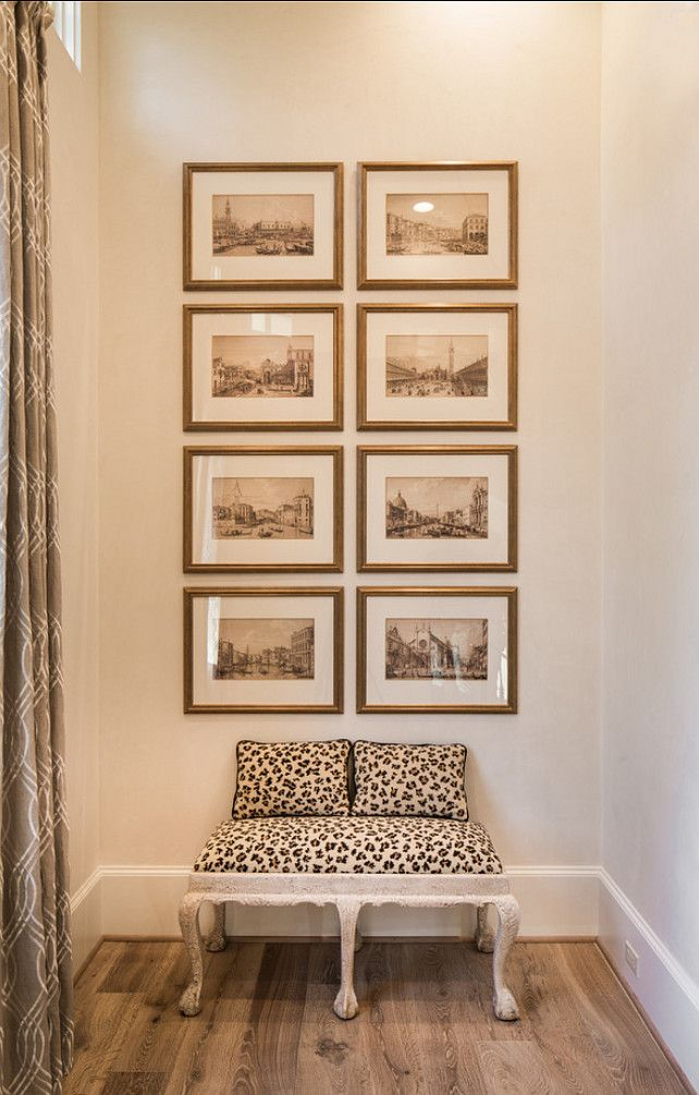 Frames. How to hang picture frames like a designer. #Frames