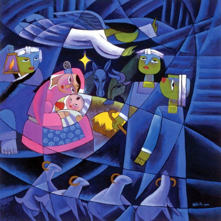 He Qi 賀齊 (b.1950) — The Nativity  (1024×1024)