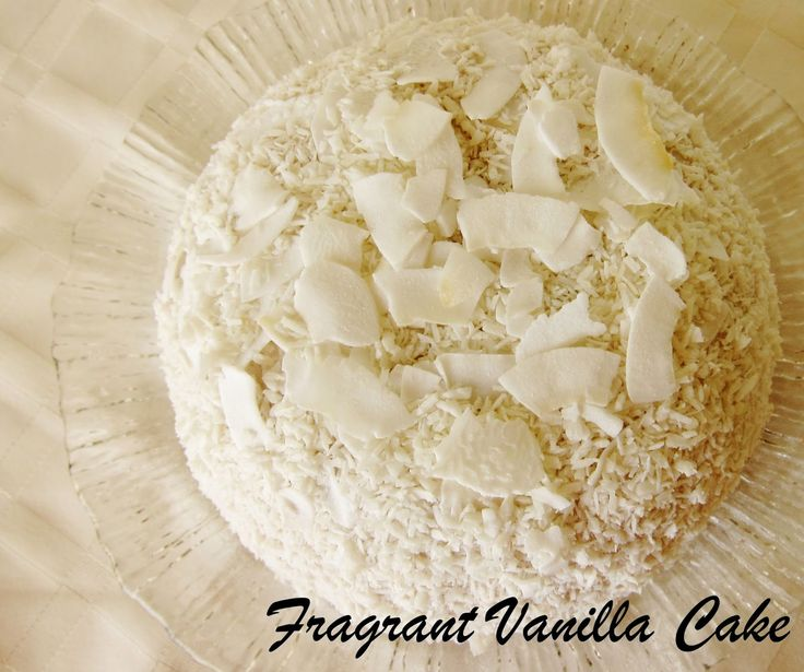 Fragrant Vanilla Cake: Raw Winter Snowball Cake