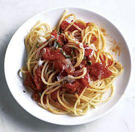 summer tomato sauce Serve fresh tomato sauce over pasta the first ...