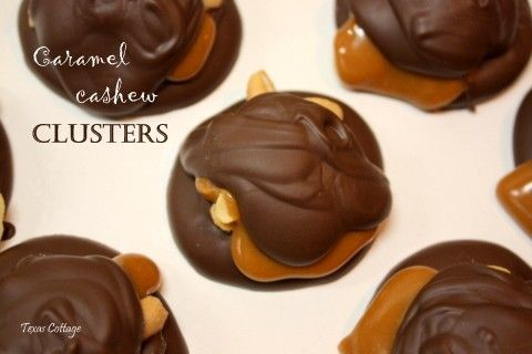 Caramel Cashew Clusters 2 pounds milk chocolate candy coating, divided ...