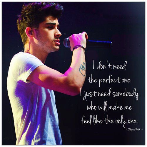 Zayn Quotes About Love : Zayn Malik Quotes. QuotesGram
