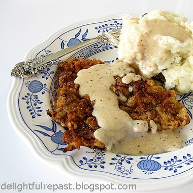 Chicken Fried Steak with Cream Gravy - the ultimate Southern comfort ...