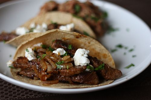 Chipotle Beef Tacos with Caramelized Onions