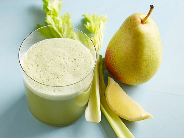 Pear-Celery Lemonade: We love the flavors of pear and celery together. They make a perfect lemonade that's packed with vitamin C.