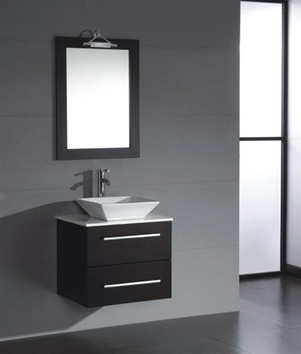 Replacing A Pedestal Sink With A Vanity : ... replace my pedestal sink. Love the look of a floating vanity - so
