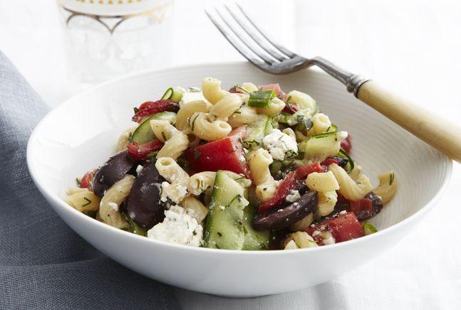 Greek Chopped Macaroni Salad | Recipe