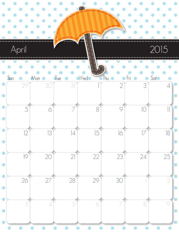 Cute Free Printable Blank CalendarsFreePrintable Coloring Pages
