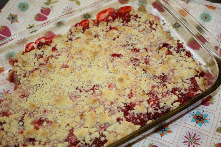 Strawberry Cream Cheese Crumble Tart Recipe — Dishmaps