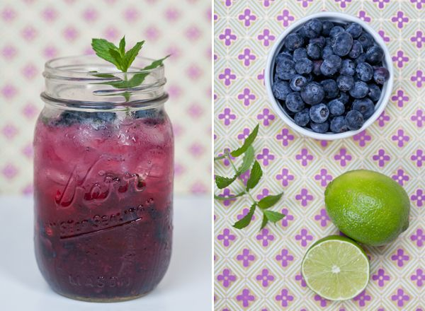 Sugar and Charm: oh so blueberry mojito