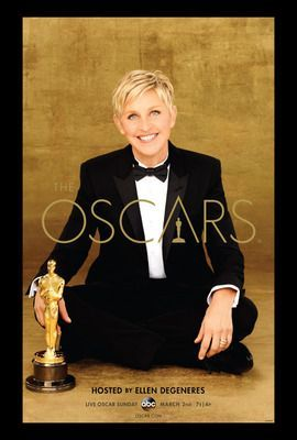 Academy Awards, 2014 ~ The official Oscars poster, featuring host Ellen DeGeneres