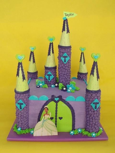 Princess and the Frog Birthday Cake by CakesUniqueByAmy.com, via Flickr