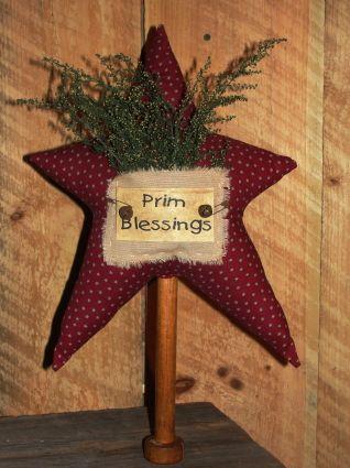 Primitive star on bobbin christmas crafts pinterest