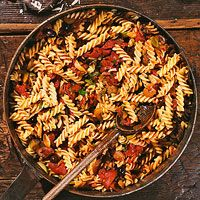 Olive & Caper Sauce with Fusilli (Everyday with Racheal Ray mag, Sept ...