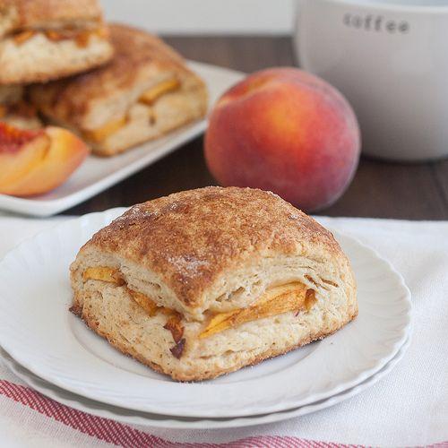 Peach Cobbler Scones Recipe — Dishmaps