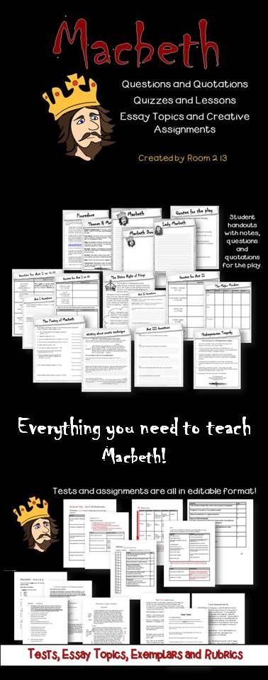 The help critical essays on macbeth | room 30