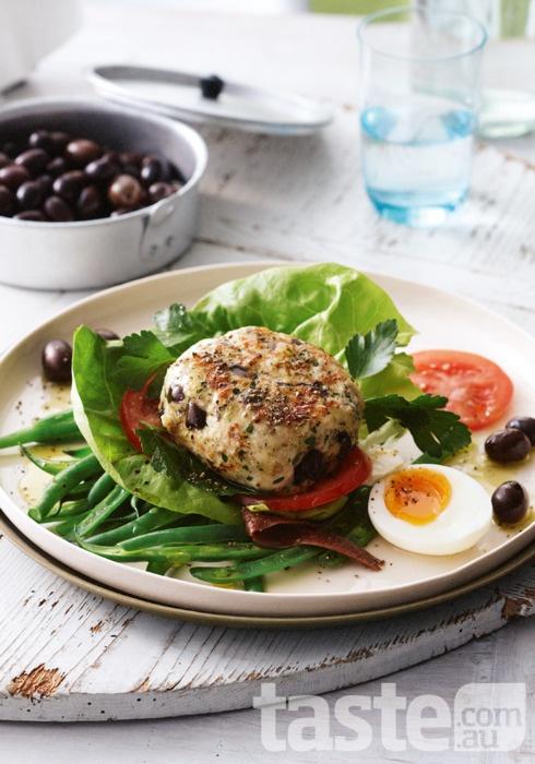 Chicken nicoise burger | ...my menu | Pinterest