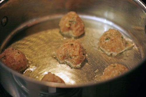 Almost Ethereal Chicken Meatballs - Sarah's Cucina Bella