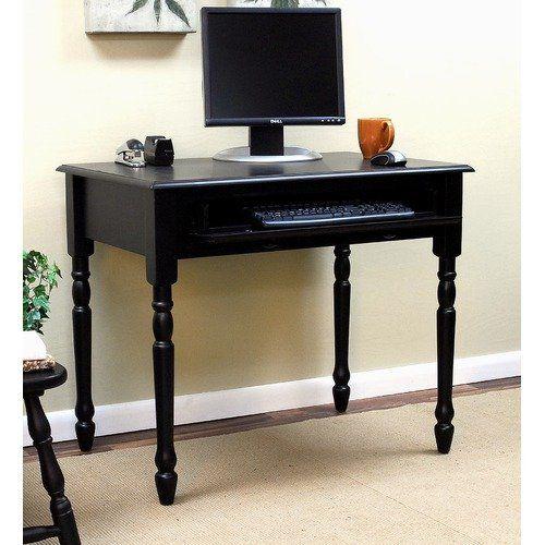 Carolina Cottage Cottage Computer Desk in Antique Black $231.99