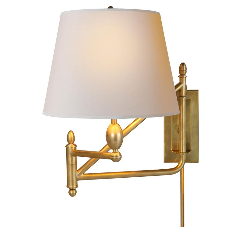 Swing Arm Wall Sconces For Bedroom : Gentleman s Library Swing Arm Wall Sconce Available in 3 Colors: Antique Brass, Bronze, Polished ...