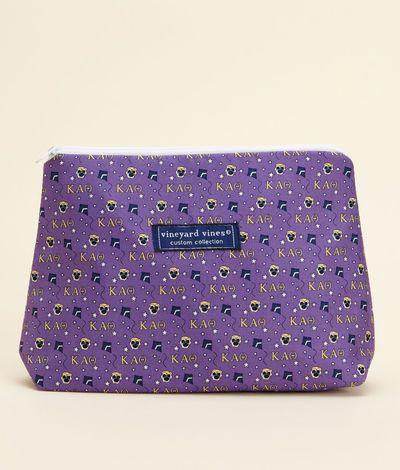 Sorority collection kappa alpha theta makeup bag for women