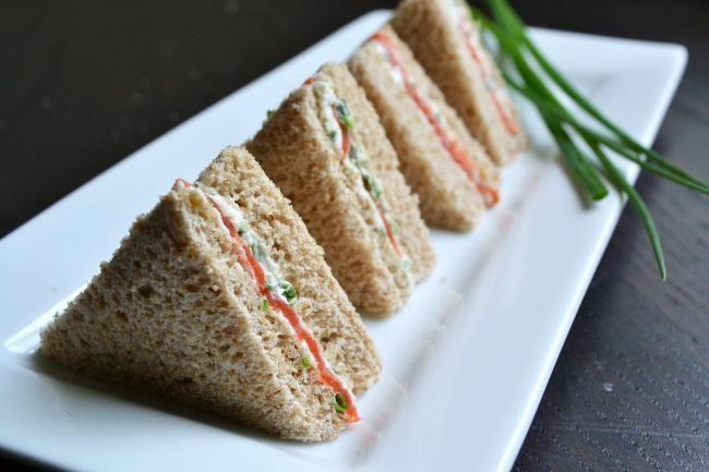 Smoked Salmon And Endive Tea Sandwiches Recipe — Dishmaps