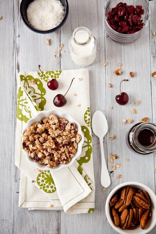 pecan coconut cherry granola. | tasty. | Pinterest