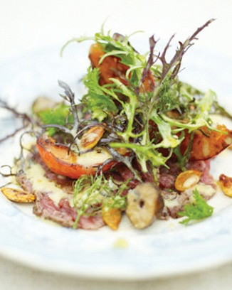 roasted squash and beef carpaccio