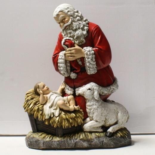 Kneeling santa slim profile christmas pinterest