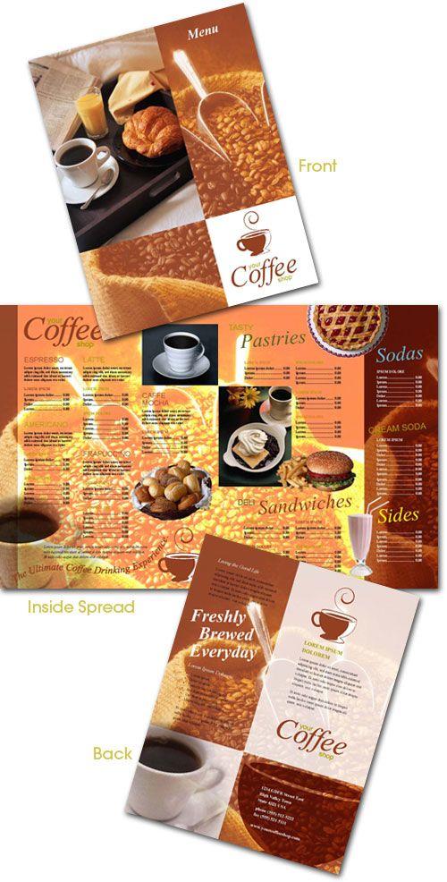 Coffee Shop Menu Template - Indesign restaurant menu template