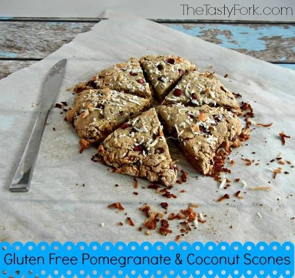 Gluten Free Pomegranate and Coconut Scones. Has no refined sugars or ...